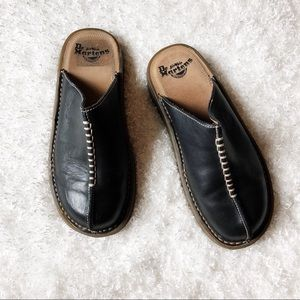 Dr. Martens Black Slip On Mules Size 6 (can fit 7)